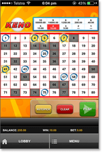 Play & Go Keno3 for Mobile