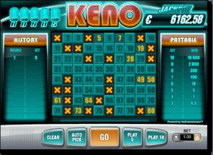 Bonus Keno at Guts Casino