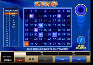 Play Keno at Guts Casino