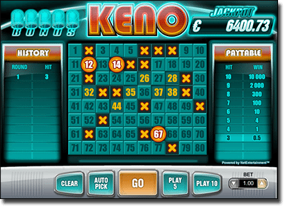 Keno online for real money in AUD
