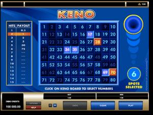 Online keno on Macbook and iMac