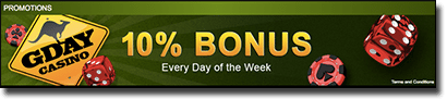 G'Day Casino keno bonuses for Australians