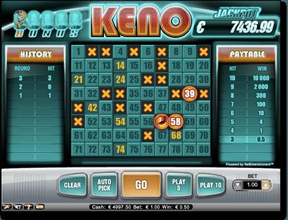Bonus Keno by NetEnt