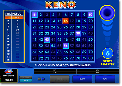 Play Microgaming keno games at AllSlotsCasino.com
