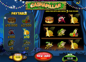 Cashapillar online scratchies by Microgaming