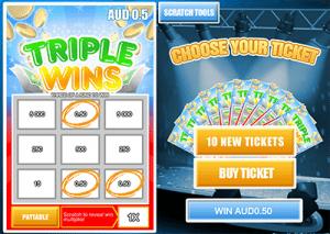 Triple Wins online scratchies