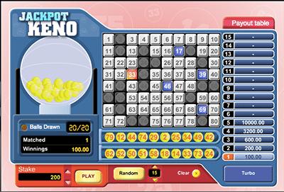 Jackpot Keno by 1x2 Gaming