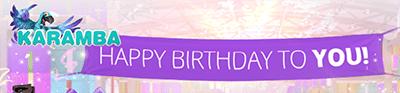 Karamba birthday bonus promotion