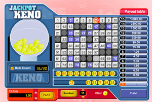 Jackpot Keno screenshot