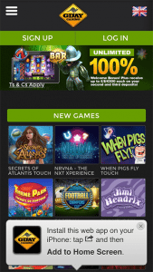 Keno iPad apps at G'Day online casino