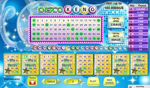 Disco Keno gameplay