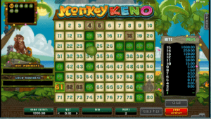 monkey keno by microgaming