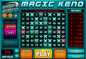 pariplay magic keno