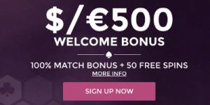 welcome bonus at wintingo